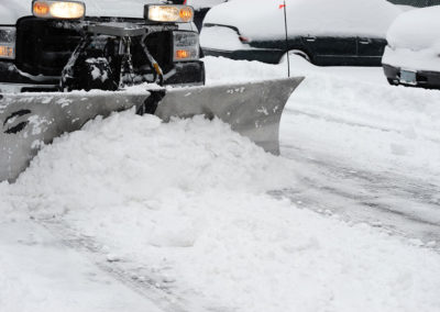 Snow Removal: plowing